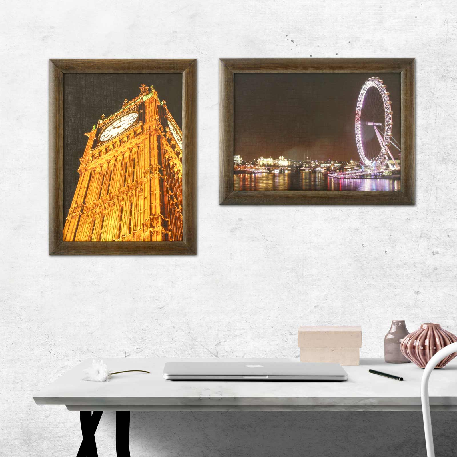 ihr foto bild im echtholz rahmen druck auf canvasplatte 30x40 cm. Black Bedroom Furniture Sets. Home Design Ideas