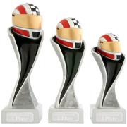 Kart Auto Rennen Pokal Serie METZ mit Gravur in 3 Größen
