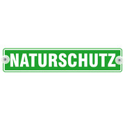 Schild Autoschild Naturschutz mit Saugnapf wetterfest 40 x 8 cm GREEN