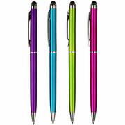 4 Stück Touch Pen für Smartphone iPhone Eingabe PAD  Kugelschreiber