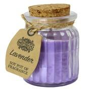 Soja Lavendel Kerze Duftkerze Licht im Glas Sojawachs