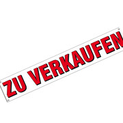 Banner mit Text zu verkaufen 200 x 35 cm mit Ösen PVC Plane Werbeplane