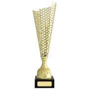 Wanderpokal VITRE Pokal mit Gravur gold aus Metall 40 cm