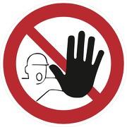 Aufkleber Zutritt für Unbefugte verboten D-P006