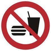 Aufkleber Essen und Trinken verboten P022