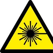 Schild oder Aufkleber Warnung vor Laserstrahl W004