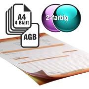 Durchschreibesätze 2/1-farbig A4 3-fach durchschreibend mit Rückseitendruck