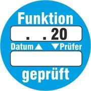 """""""Funktion geprüft"""" Prüfetiketten / Prüfplaketten mit Beschriftungsfeldern 30 mm rund"""