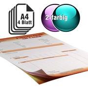 Durchschreibesätze 2-farbig A4 3-fach durchschreibend