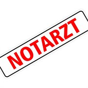 "Magnetschild ""Notarzt"" 30 x 7 cm 1mm stark"
