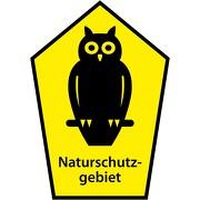 Schild Naturschutzgebiet Eule mit Fünfeck 3mm Alu-Verbundschild