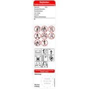 Bedienungsanleitung Stehleitern nach Leitern und Tritte BGI BGV 50 x 200 mm