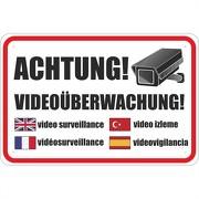 Schild Achtung Videoüberwachung Videokamera Video 3mm Aluverbund
