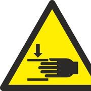 Aufkleber Warnung vor Handverletzungen W024