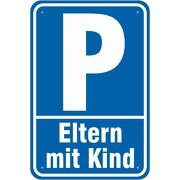 Hinweisschild Schild Parkplatz Eltern Mutter mit Kind Parken 3mm Alu-Verbund