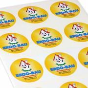 Etiketten PP Folie satiniert Druck mit Logo bedruckt 4-farbig