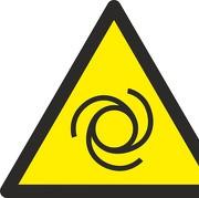 Schild Warnung vor automatischem Anlauf W018