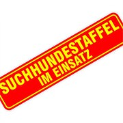 "Magnetschild ""Suchhundestaffel"" 30 x 7 cm 1mm stark Magnettafel"