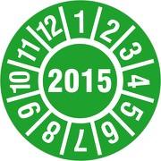 Prüfplakette 30mm 2015 /Jahresprüfplakette  / Jahresprüfetiketten