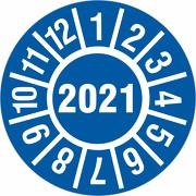 Prüfplakette 2021 Jahresprüfplakette Jahresprüfetiketten 18 oder 30mm