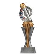 Pokal Trophäe Singen Mikrofon Serie SALAKA aus Resin PVC 3 Größen