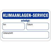 """""""nächster Klimaanlagen-Service"""" Wartungsaufkleber allgemein 58 x 36 mm"""