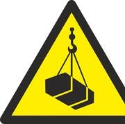 Aufkleber Warnung vor schwebender Last W015