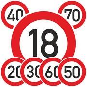 Geburtstagschild Verkehrsschild Straßenschild Schild PVC 40 cm