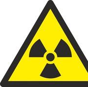 Aufkleber Warnung vor radioaktiven Stoffen oder ionisierender Strahlung W003