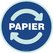 Wertstoffkennzeichnung Papiermüll Aufkleber