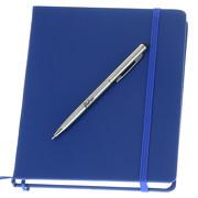 Set aus Notizbuch und Metall Touch Pen Kugelschreiber mit Gravur
