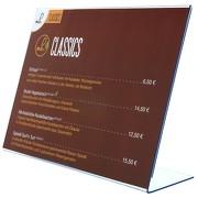 L-Ständer querformatig Acrylaufsteller Werbeaufsteller A9 bis A3