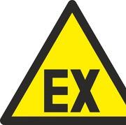 Aufkleber D-W021 Warnung vor explosionsfähiger Atmosphäre