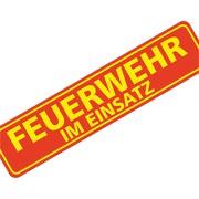 """Magnetschild """"Feuerwehr im Einsatz"""" 30 x 7 cm 1mm stark"""