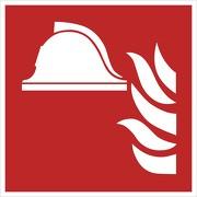Aufkleber Mittel und Geräte zur Brandbekämpfung F004