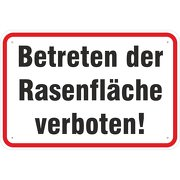 Schild Betreten der Rasenfläche verboten 3mm Aluverbund 3 Größen