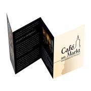 Falter A6 8 Seiten (offen 420 x 148mm) 170g glänzend