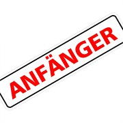 """Magnetschild """"Anfänger"""" 30 x 7 cm 1mm stark"""