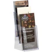 3-fach-Ständer Wandhalter Acryl Prospekthalter Prospektständer A5 A4 1/3A4