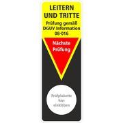 Grundplakette zur Prüfung Leitern und Tritte Prüfung gemäß DGUV Information 208-016