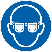 Aufkleber Augenschutz benutzen M004