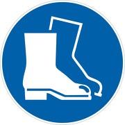 Schild Fußschutz benutzen M008