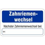 """""""Nächster Zahnriemenwechsel"""" Wartungsaufkleber allgemein 58 x 36 mm"""