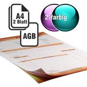 Durchschreibesätze 2/1-farbig A4 1-fach durchschreibend mit Rückseitendruck