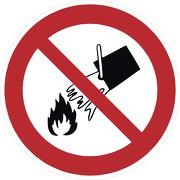 Schild Mit Wasser löschen verboten P011