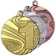 Medaillen MMC6040 aus Stahl 40 mm Zahlen 1 2 3 gold silber bronze
