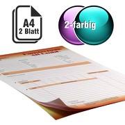 Durchschreibesätze 2-farbig A4 1-fach durchschreibend