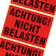 Etiketten Achtung nicht belasten Haftpapier 105 x 75 mm leuchtend rot