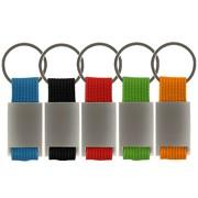 Schlüsselanhänger Trogir Metall in 5 Farben mit Gravur Text Logo