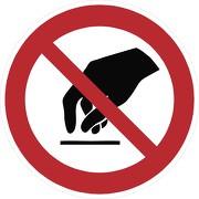 Aufkleber Berühren verboten P010